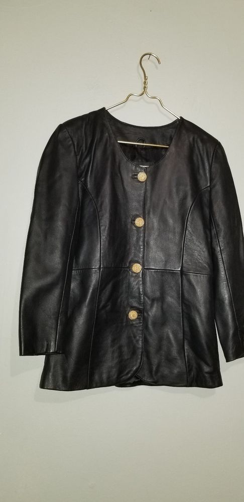 db5db318f780a FORCE 2 USL ladies leather jacket gold buttons  fashion  clothing  shoes   accessories  womensclothing  coatsjacketsvests (ebay link)