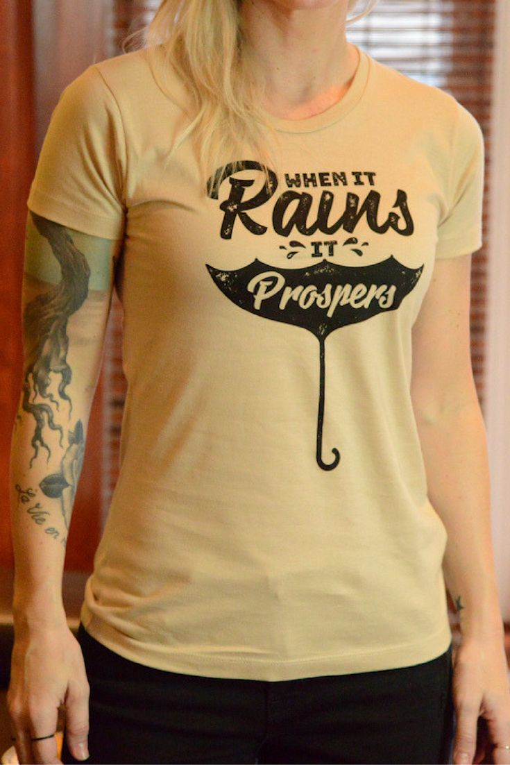 When it rains, it prospers : Premium 100% Organic Cotton Shirt