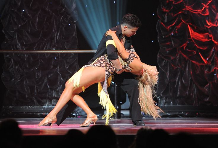Dancer Jonathan Platero and Elizabeth Berkley perform onstage at the 5th Annual Celebration of Dance Gala presented By The Dizzy Feet Foundation at Club Nokia. (All photos by Angela Weiss/Getty Images for Dizzy Feet Foundation.)