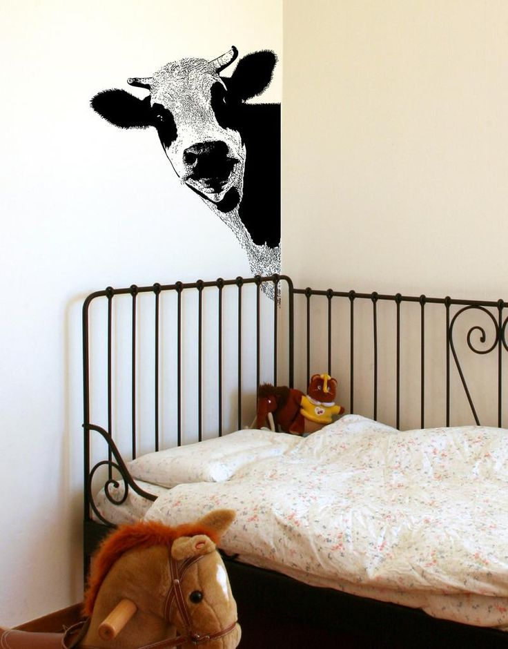 peeking cow wall decal sticker for your kitchen 5476 on wall stickers for kitchen id=99745