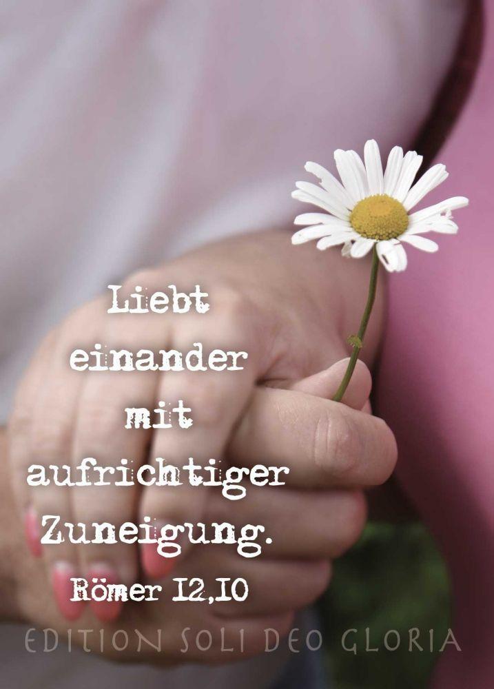 christliche Postkarte 93 - Liebt einander Römer 12,10, Hochzeit, Verlobung, Liebe - Bibel a la Carte - Christliche Karten