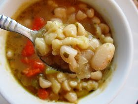 food and thrift: Hungarian Style Cannelini Bean Soup