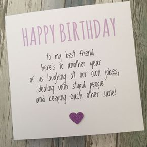 FUNNY BEST FRIEND BIRTHDAY CARD/ BESTIE / HUMOUR/ FUN / SARCASM – Another YPP | Home, Furniture & DIY, Celebrations & Occasions, Cards & Stationery | eBay!