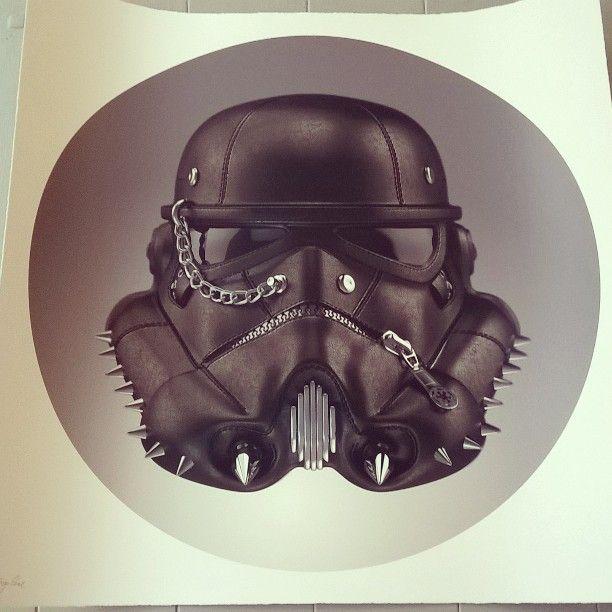 New in! Clone Trooper by The Strange Case Company  #starwars #art #giclee #silkscreen #instaart
