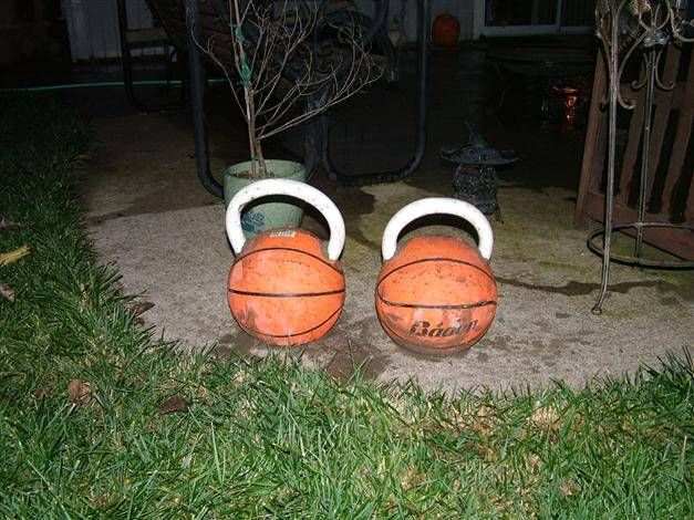 Homemade kettlebell home gym pinterest