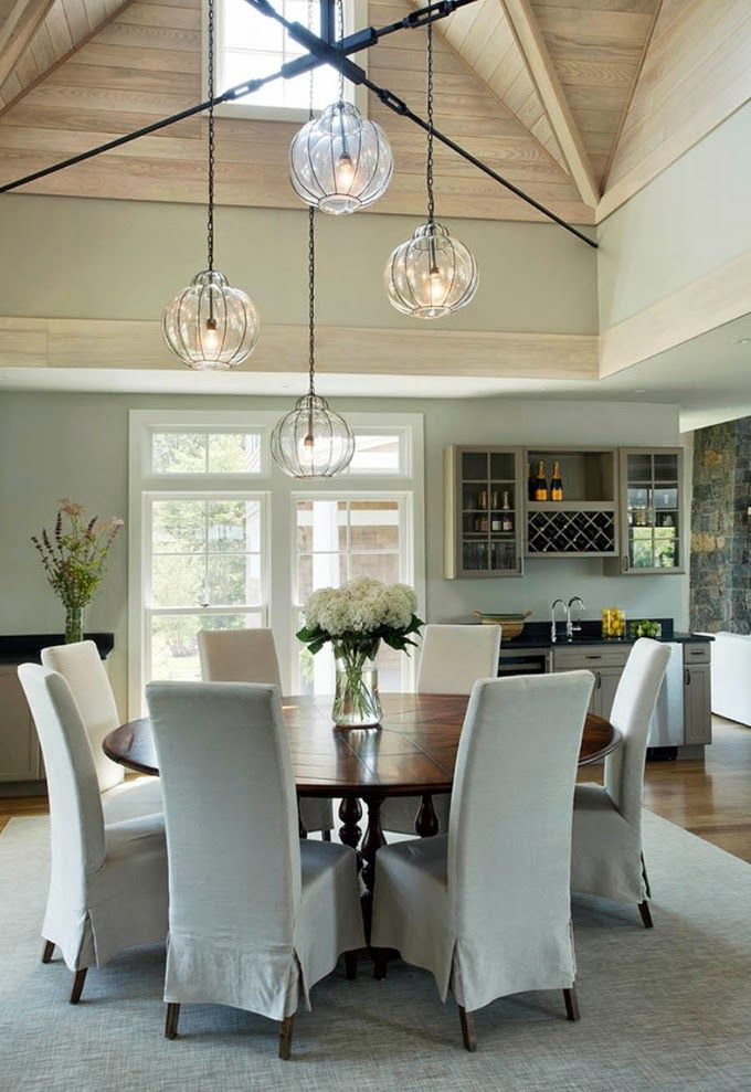 love those lights!  House of Turquoise: Martha's Vineyard Interior Design