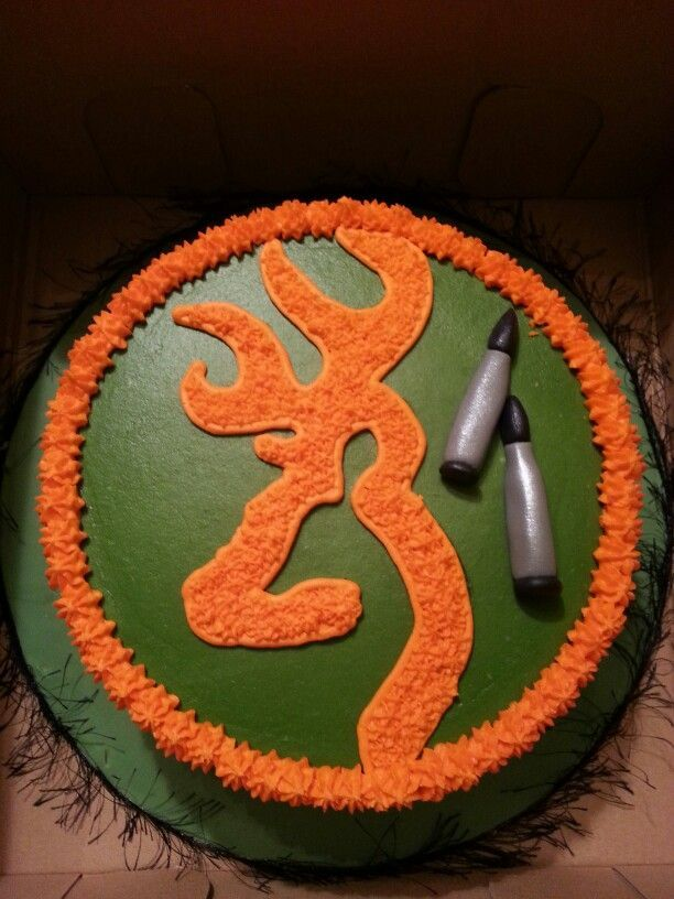 Deer hunting birthday - A cake made for a young man turning 13 who is learning to hunt deer. Description from pinterest.com. I searched for this on bing.com/images