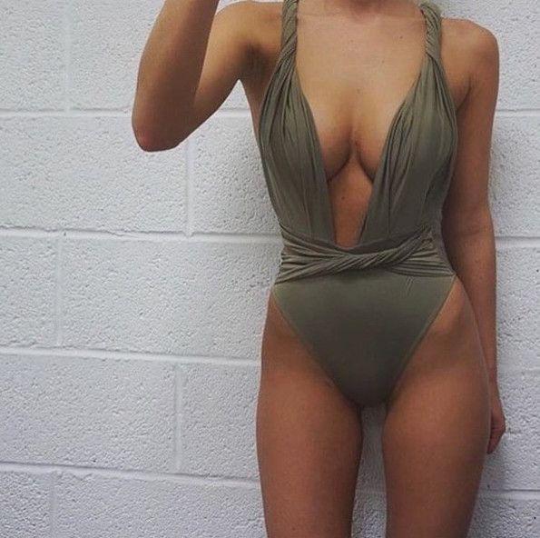 Multi-Way Green Swimsuit