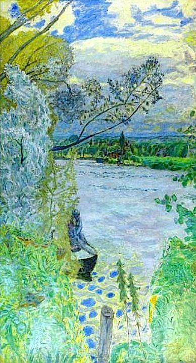 ☼ Painterly Landscape Escape ☼ landscape painting by Curt Butler - Pierre Bonnard / LA SEINE PRÈS DE VERNON
