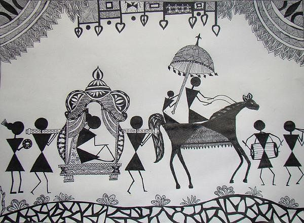 Baraat - The Wedding Procession Print By Sachin Raverkar