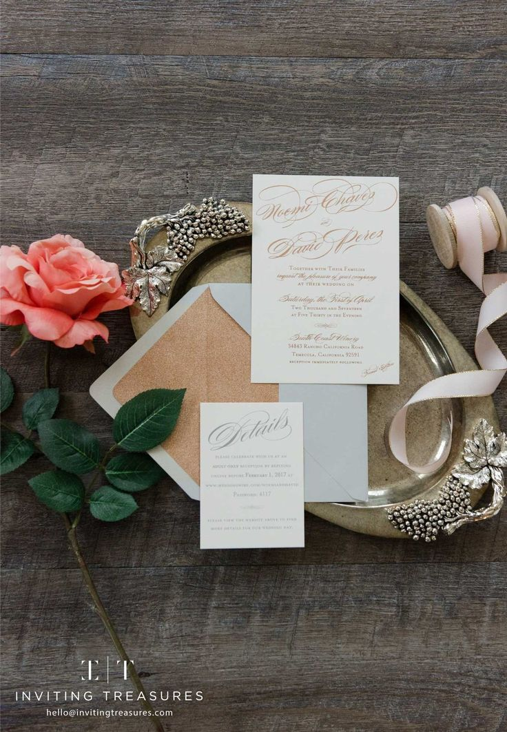 golden wedding card making ideas%0A Rose gold and ivory wedding invitation ideas   Rose gold wedding invitations    Simple and elegant