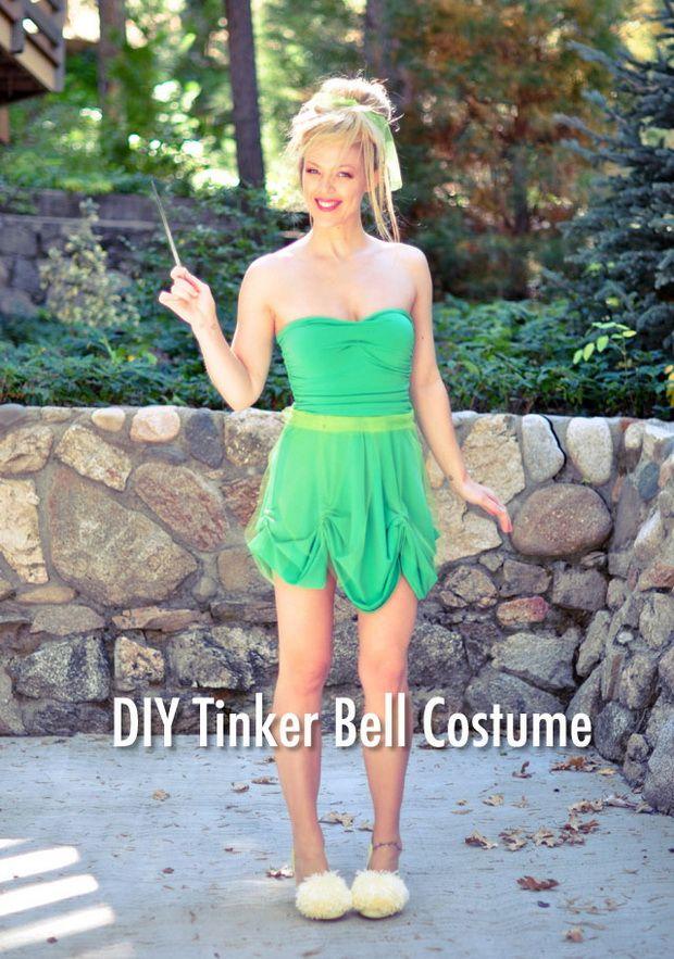 Tinker Bell Hair Amp Makeup Tutorial Diy Costume Belle