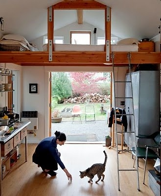 a converted garage turned home - super cute!