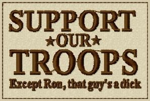 OML Patches - Support our troops, $6.50 (http://www.omlpatches.com/support-our-troops/)