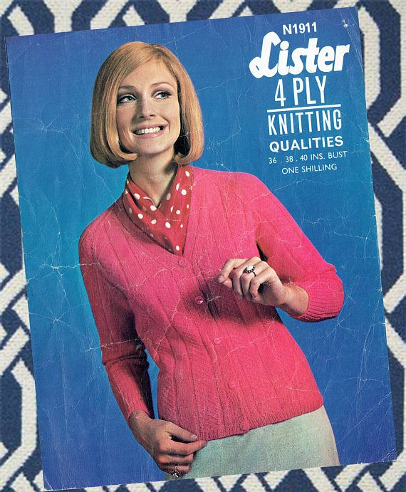 Original Vintage 1960s Womens Ladies Knitting Pattern Lister