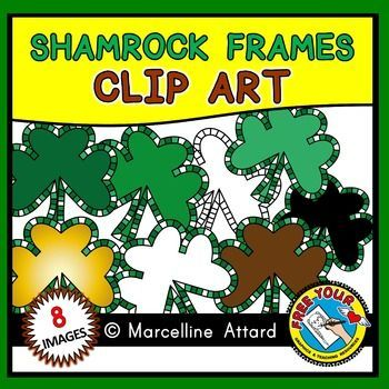 #SHAMROCK #FRAMES #CLIPART: colorful checkered frames
