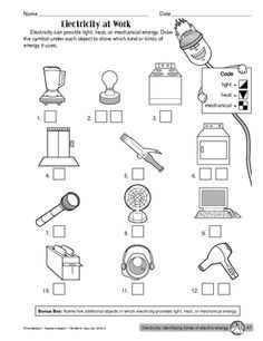 lots of energy worksheet printables free worksheet life skills science electricity. Black Bedroom Furniture Sets. Home Design Ideas