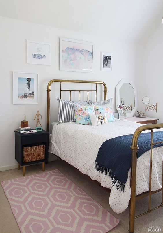 Modern Vintage Teen Bedroom Full Of DiYs And Cool Thrifted Finds You Have Got To