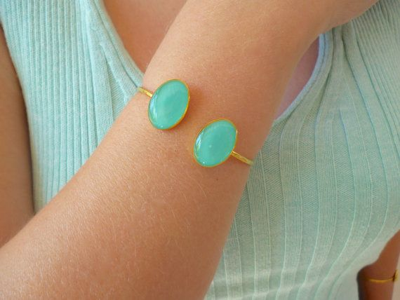 Hey, I found this really awesome Etsy listing at https://www.etsy.com/listing/269444335/double-oval-bracelet-double-stone