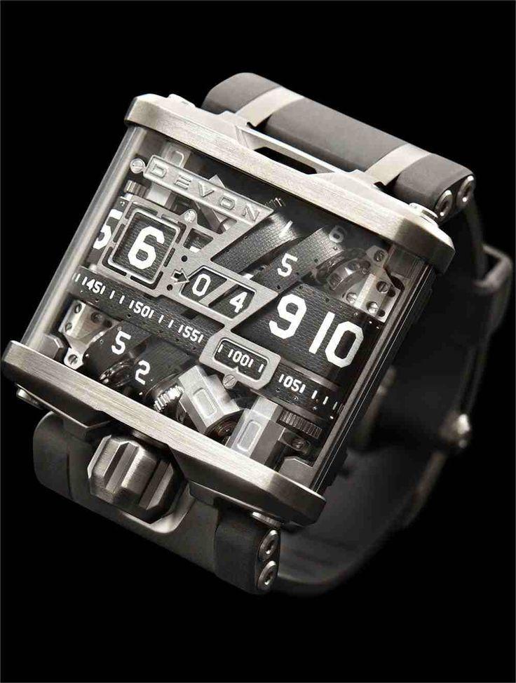 Belt-driven Devon Tread watch. $17,500: Devon Watches, Analog Watches, Incr Watches, Belts Driven Watches, Belts Driven Devon, 17500, Beltdriven Devon, Treads Watches, Devon Treads