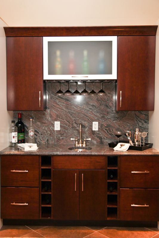 Creative Home Bar diy home bar table with sturdy wood also recessed fridge and ice box Creative Home Bar Ideas Eastern Adirondack Home And Design In Bolton Landing Ny