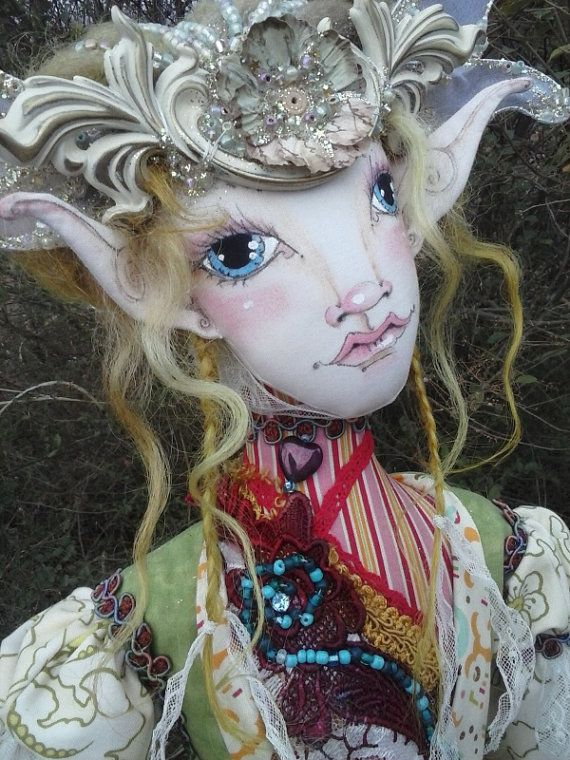 OOAK Fantasy Figure  Nidawi fairy  Original by paulasdollhouse, $425.00
