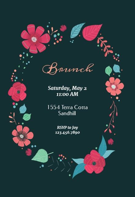 free brunch lunch party invitation templates greetings island