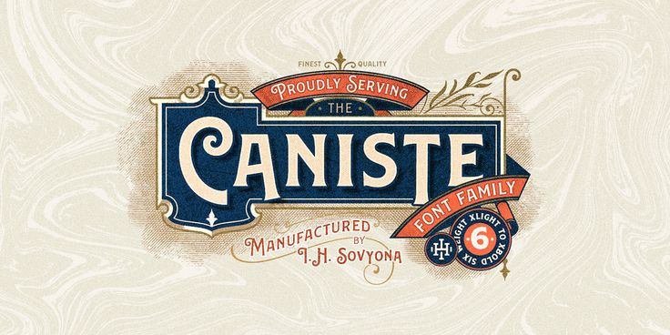 """Check out this @Behance project: """"Caniste Font Family"""" https://www.behance.net/gallery/61663461/Caniste-Font-Family"""