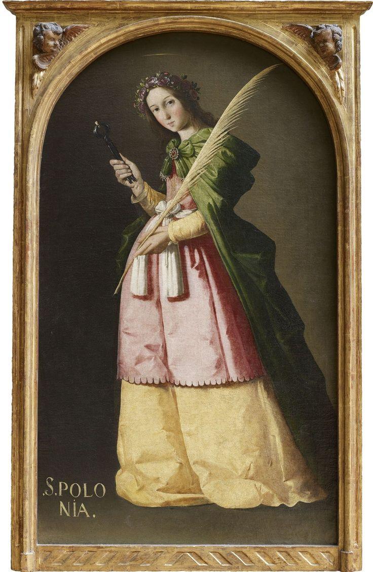 Франсиско де Сурбаран. Св. Аполлония. 1640 г., 67×115 см. Лувр, Париж.