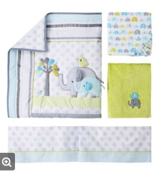 Elephant Crib Bed Sheet Set From Target Baby Boy Nursery
