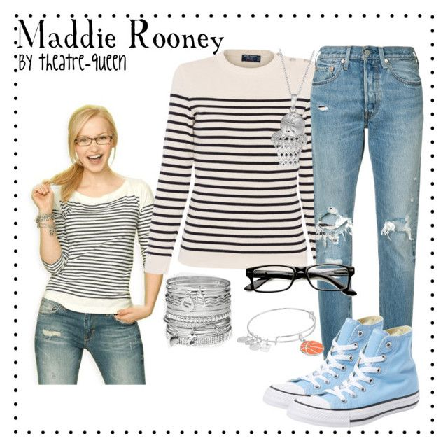 Maddie Rooney Disneybound by theatre-queen on Polyvore featuring polyvore, fashion, style, Saint James, Levi's, Converse, Avenue, Alex and Ani and clothing