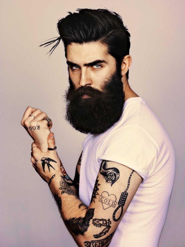 камни являются фотомодель парень с бородой работаю одной