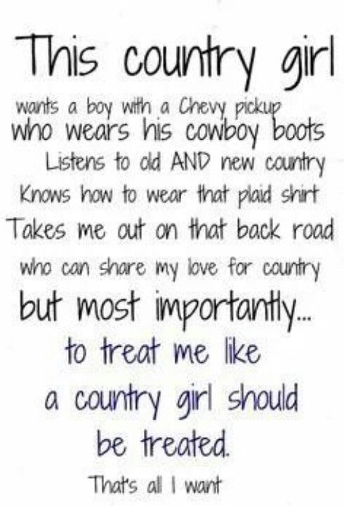 Country girl- truthfully I dont care what truck he drives. Just as long as he drives a truck!