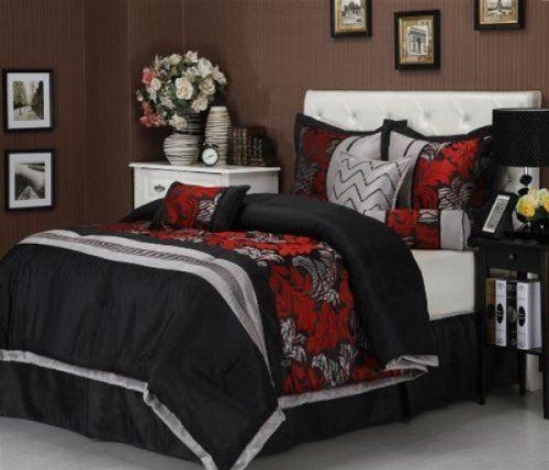 Red Bed Bedroom Black Ops Bedroom Ideas Bedroom Colour Scheme Ideas John Deere Bedroom Furniture: 50 Best Black And Red Comforter Set Images On Pinterest
