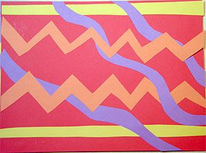 First Grade Art Lesson 2 | Cutting Lines Creating a Collage