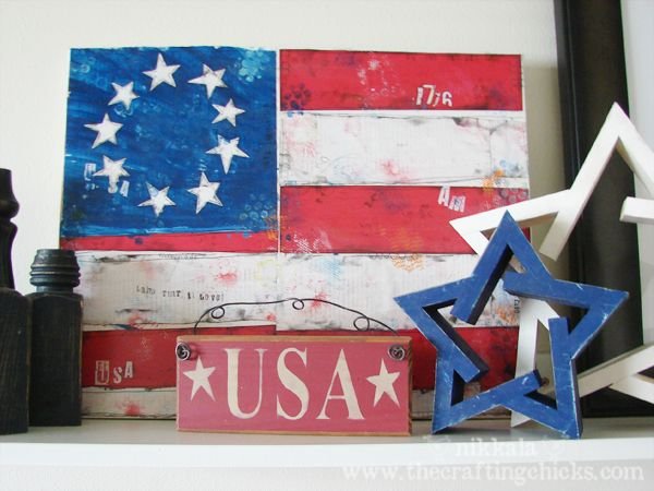 Old Glory mixed media craft from @The Crafting Chicks