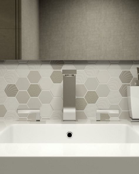 Carnival Series - Shaded Canopy porcelain hexagons