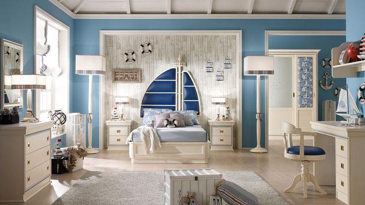 Stile marino e colori pastello per una cameretta a misura di bambino. #Caroti