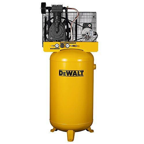DeWalt DXCMV5048055 80-Gallon Two-Stage - Cast Iron - Industrial Air Compressor is a heavy-duty stationary air compressor. It utilizes its ability to deliver air at 175-PSI (Pressure Per Square Inches) to effectively power more than one air tool or device simultaneously. The expertly engineered 5.2-Horse-Power, 240-Volts electric motor is fitted with a TOPS Thermal Overload Protection System that protects the motor from Voltage fluctuations.