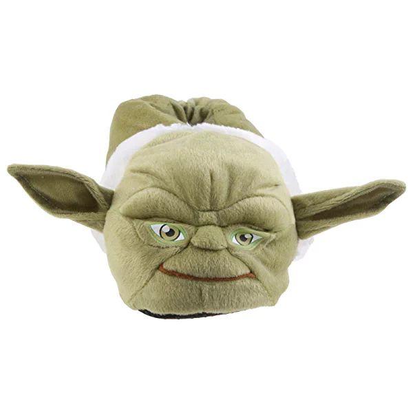 SAMs Tier Plüsch Hausschuhe Star Wars Meister Yoda Qualität Slipper Puschen Schlappen Pantoffel 31-47, TH-Yoda, Größe 35/37