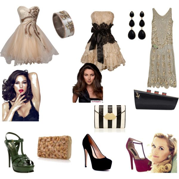 Short neutral prom dress, created by writeon on Polyvore. Check out the blog I wrote about it! http://hannahcopacabana.wordpress.com/