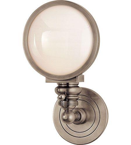 Visual Comfort E.F. Chapman Boston 1 Light Bath Wall Light in Antique Nickel SL2935AN-WG #visualcomfort