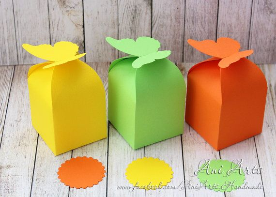 Easter Favor Boxes Set of 12 Butterfly Party Favours by AniArts