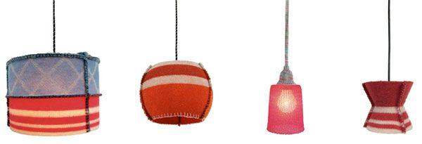 Woollight lampen van wollen dekens