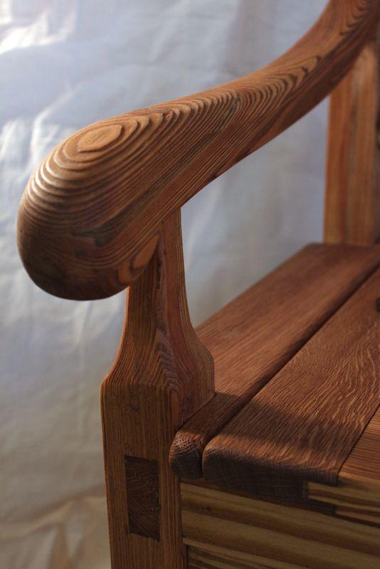 Detail židle. Truhlářská dílna pana Kloučka.