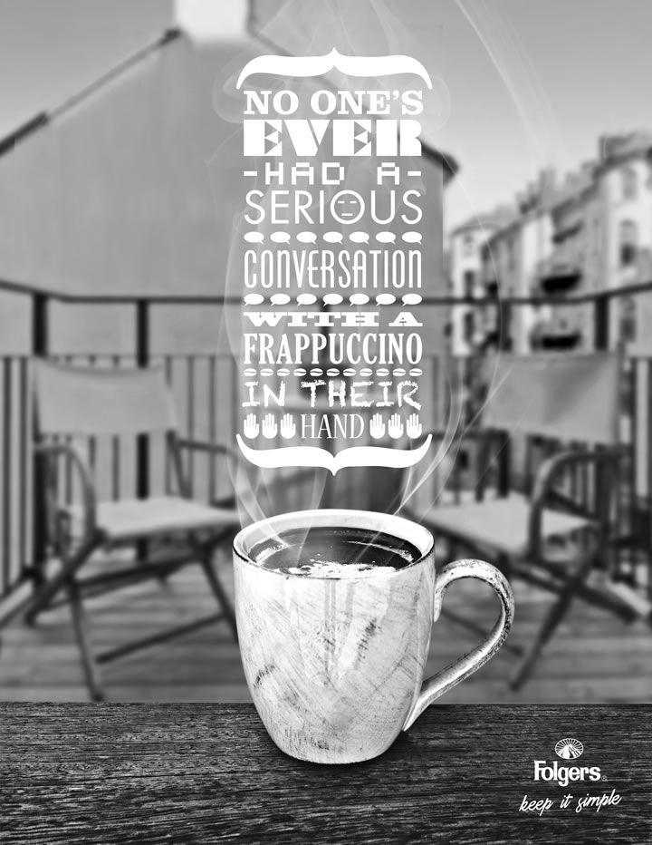 #Coffee #Folgers #Typography