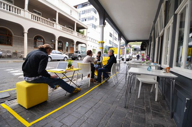 One day every month, design firm Studio Shelf sets up its office in public spaces across Cape Town #Nomadic #Temporary #popUp office