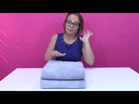 Como dobrar e guardar toalhas de banho e rosto (e dica pra escolher também!) - YouTube