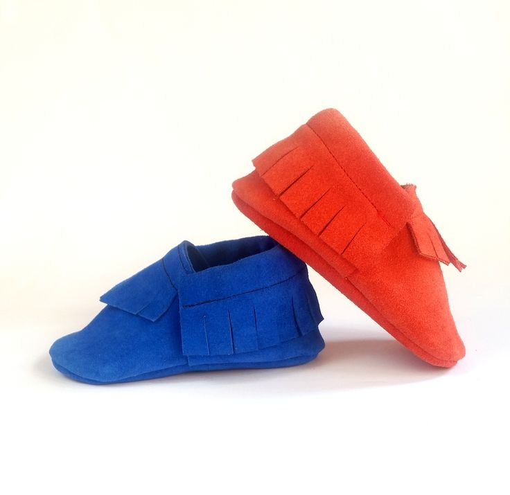 leather moccs for kids