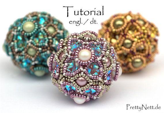Beading Pattern  Beading Tutorial for pendant  by PrettyNett
